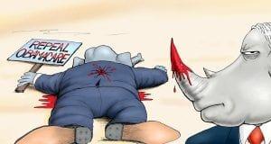 Indefensible - A.F. Branco political cartoon