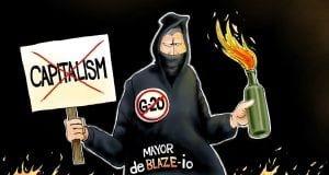 Inglorious Blaze-tard - A.F. Branco political cartoon
