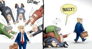 Piling On - A.F. Branco political cartoon