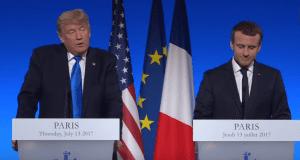 President Donald Trump and President Emmanuel Macron