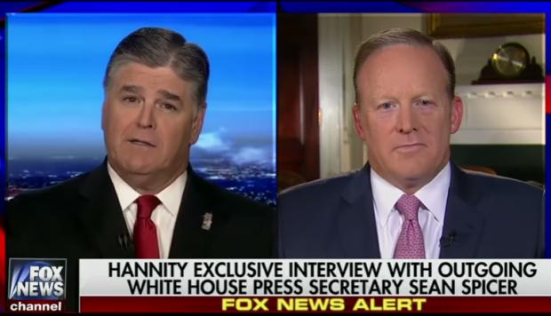 Sean Spicer on Hannity 7-21-17