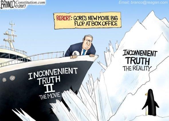 Gore Vs Truth - A.F. Branco Cartoon