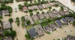 Houston neighborhood flooded