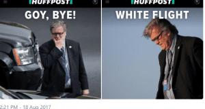 Huffpost Steve Bannon racist headlines