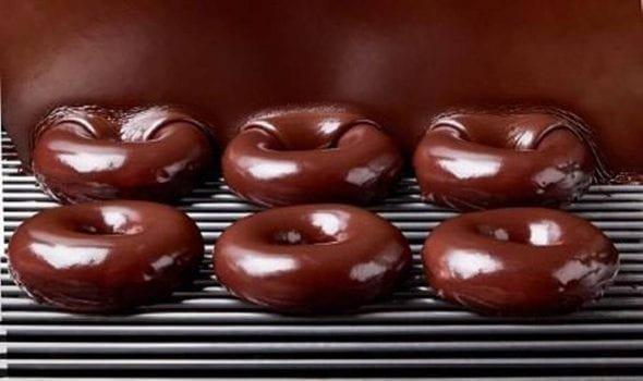 Krispy Kreme eclipse doughnut