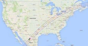 NASA GSFC 2024 Total Solar Eclipse Map