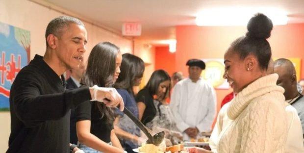 Obama In Harvey Soup Kitchen