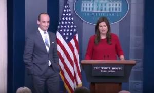 Sarah Sanders and Steven Miller RAISE Act immigration reform