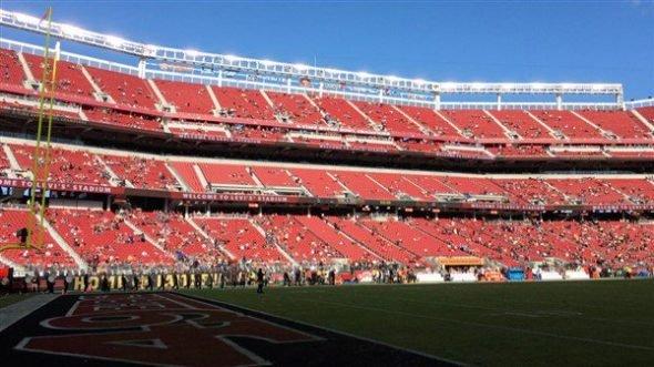 49'ers stadium empty