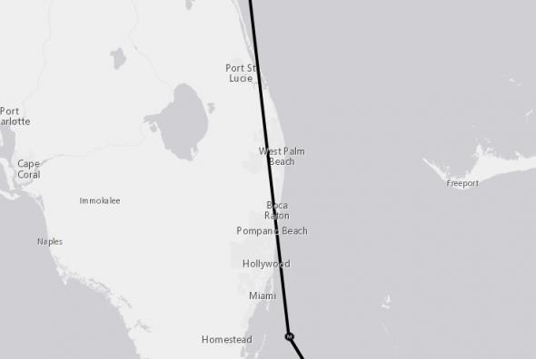 Florida landfall Irma 9-7 1400