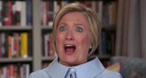 Hillary Clinton odd face