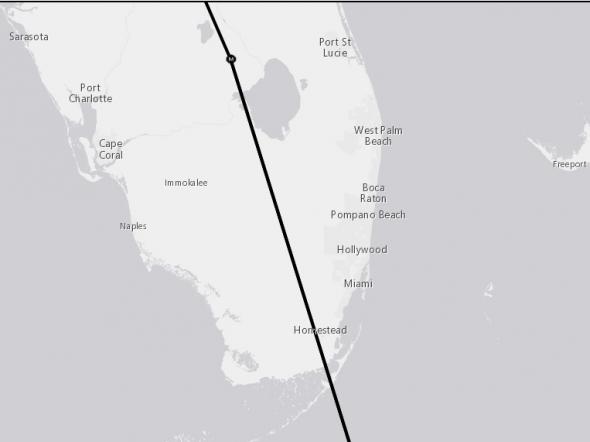 Irma Florida landfall 9-7 2300