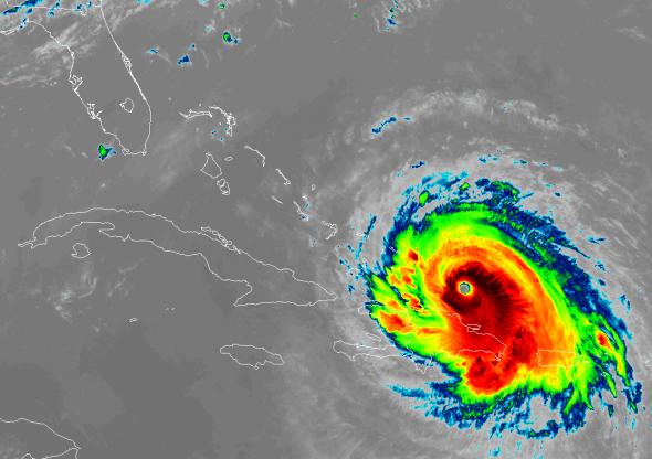Irma GOES-16 1445 UTC 9-7