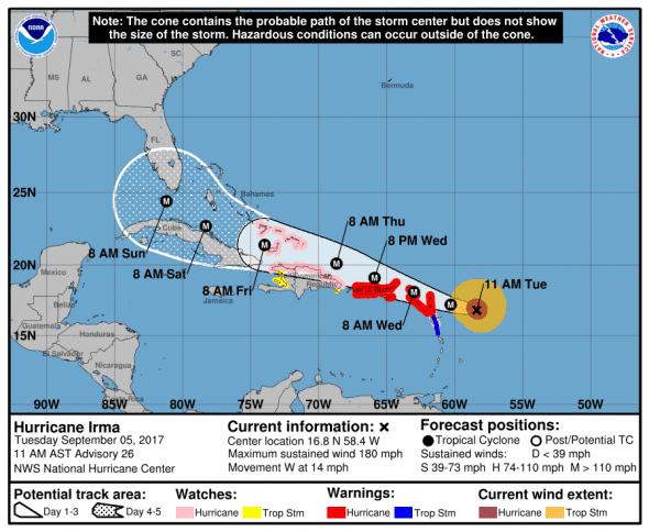 Irma cone and track 9-5-17 1100