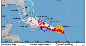 Irma cone and track 9-6-17 1100