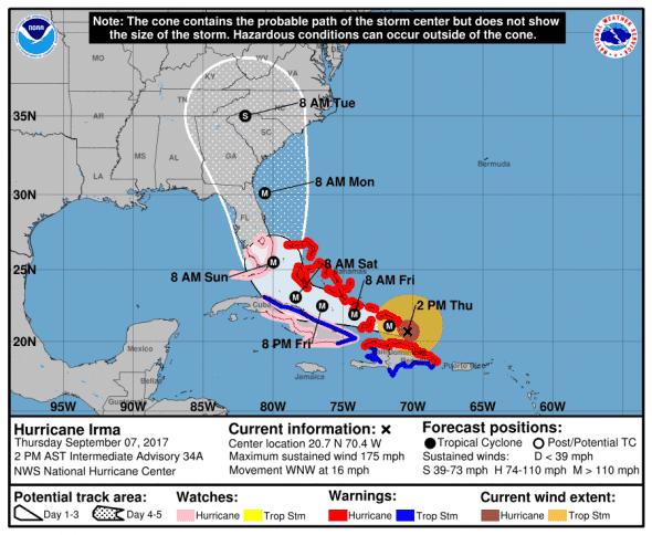 Irma cone and track 9-7-17 1400