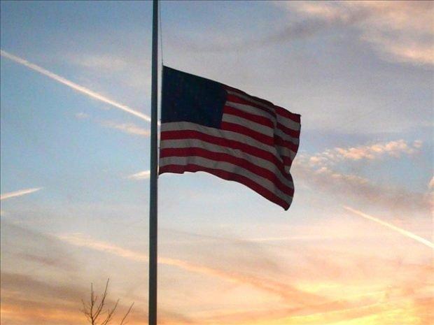 U.S. Flag at Half Mast