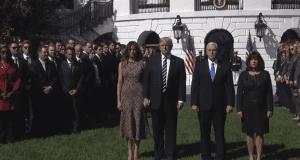 Donald Trump Melania Trump Mike Pence Mrs. Pence moment of silence Las Vegas