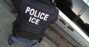 Ice Officer at car