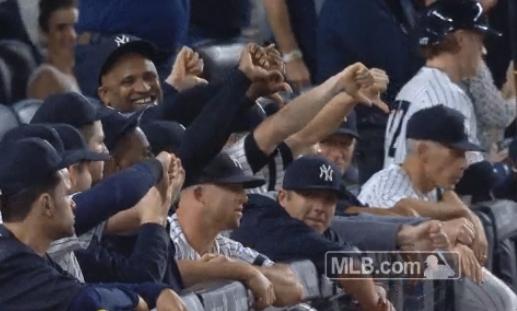 Yankees Thumbs Down Gesture