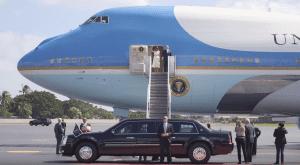 Donald Trump and Melania Trump deplane air force one