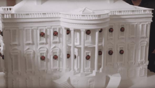 White House Gingerbread house Christmas