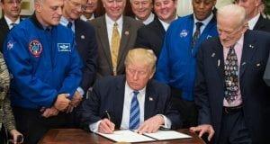 Donald Trump NASA signing