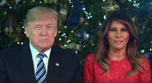 Donald Trump and Melania Trump Christmas Message 2017-2
