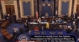 U.S. Senate vote on tax reform