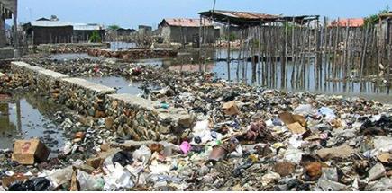 Haiti waste bridge