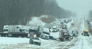 Winter Storm Inga pile up 2018