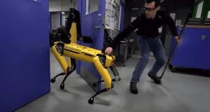 Boston Dynamics spotmini disturbance test