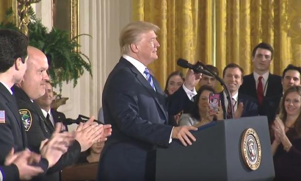 Donald Trump Public Safety Officer Medal of Valor ceremony 2-20-18