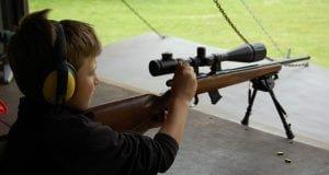 Student shooting at range