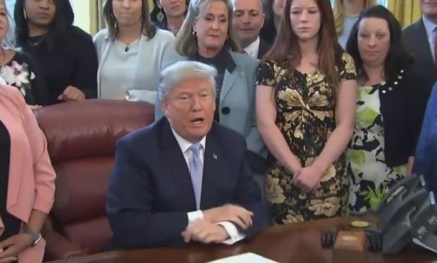 Photo of Trump signs online sex trafficking bill [video + transcript]