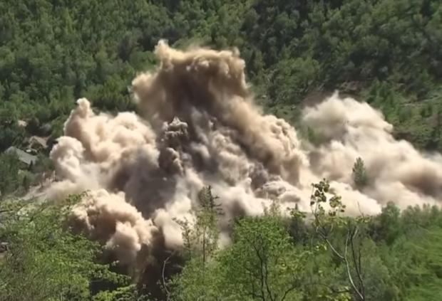 North Korea blows up nuclear testing facility