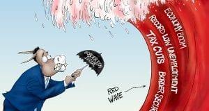 Human Shield - A.F. Branco political cartoon