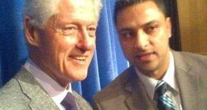 IMran Awan with Bill Clinton