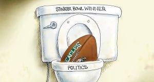 Stinker Bowl - A.F. Branco political cartoon