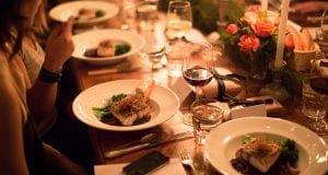 Dinner food on table
