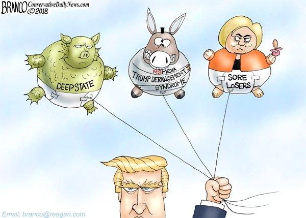 Hot Air Balloons - A.F. Branco political cartoon