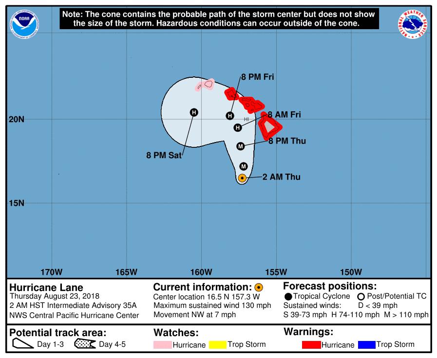 Hurricane Lane Track 8-23-18 0200 HST
