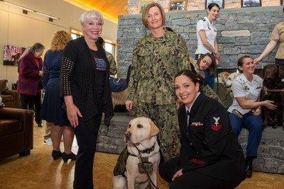 Photo of Bush Service Dog Takes Oath As Hospital Corpsman