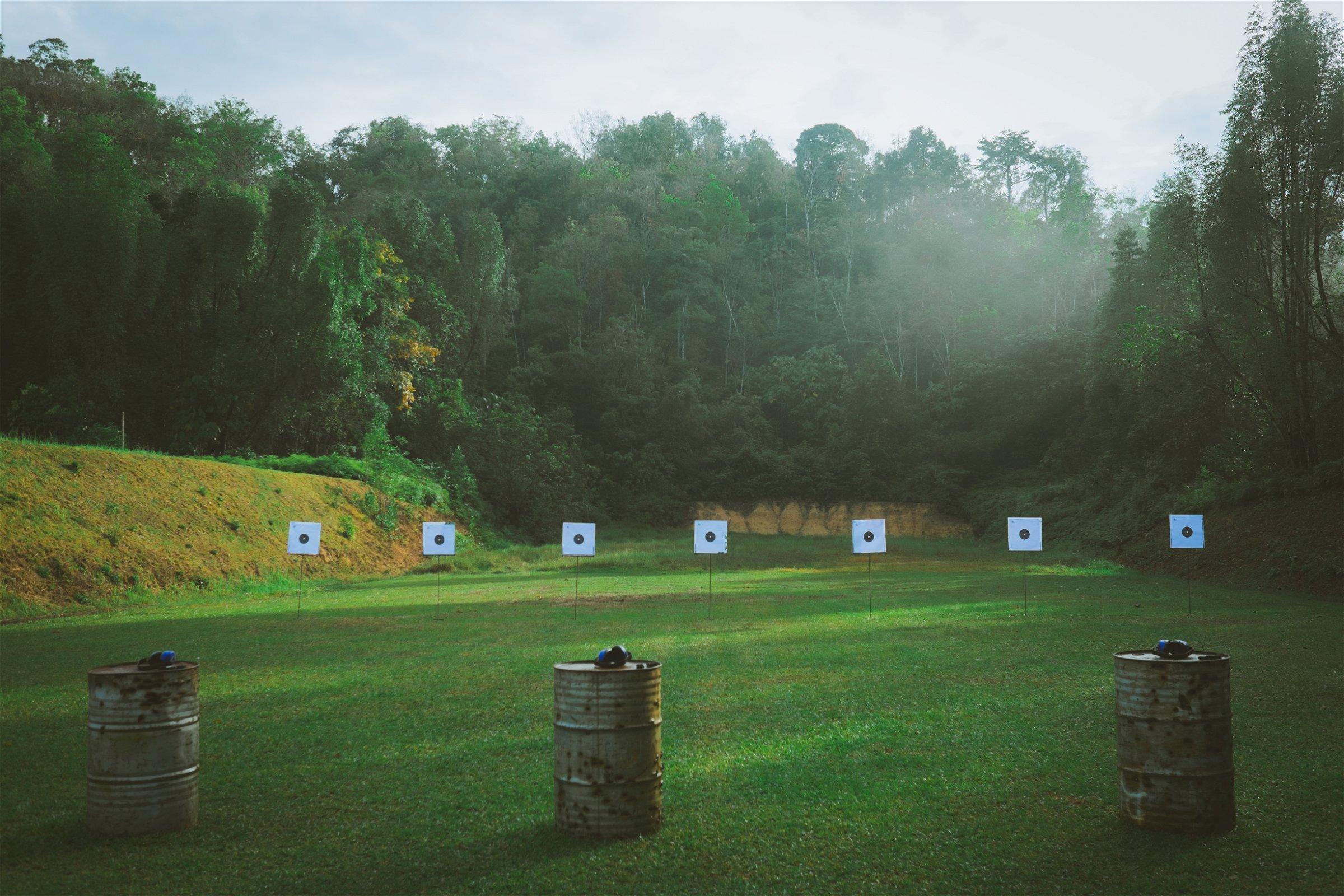 Outdoor Gun Range. Photo by Shutterstock.