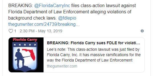 Photo of Gun Advocates Sue Florida Authorities, Allege Waiting Period Abuses