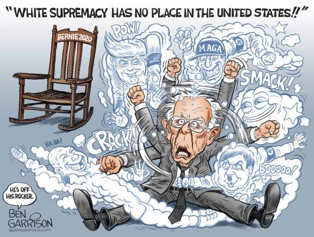 Photo of Bernie Off His Rocker – Grrr Graphics – Ben Garrison Cartoon