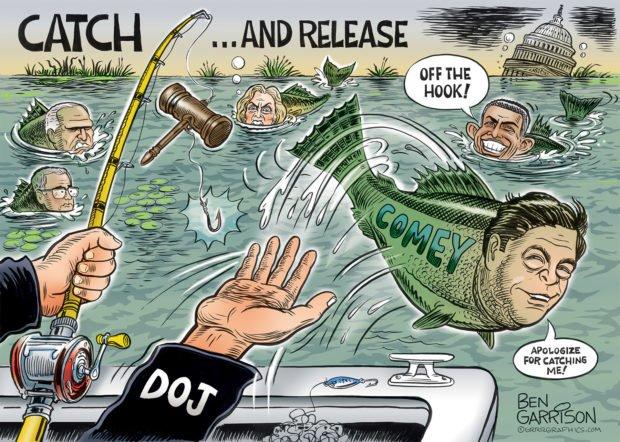 Photo of Comey Off The Hook – Grrr Graphics – Ben Garrison Cartoon