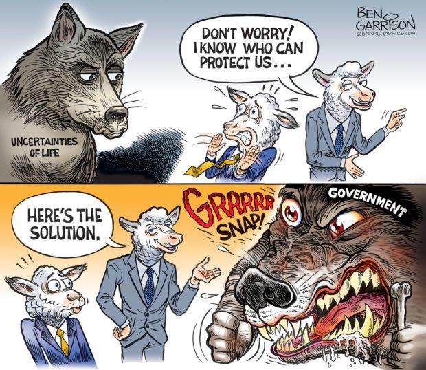 Photo of Big Government Wolf – Grrr Graphics – Ben Garrison Cartoon