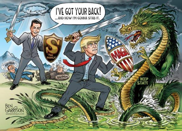 Photo of Backstabber – Ben Garrison Cartoon