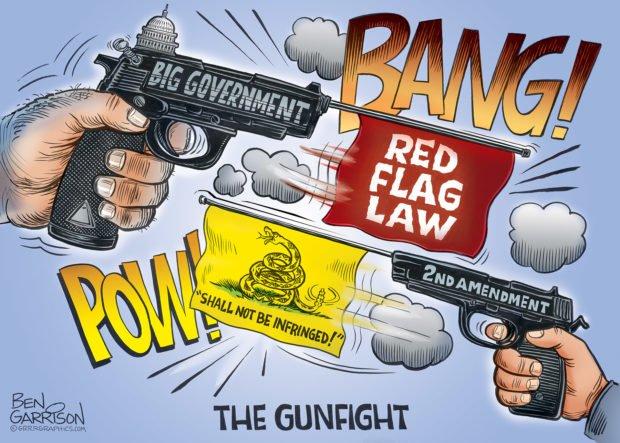 Photo of Gunfight At The Liberty Corral – Grrr Graphics – Ben Garrison Cartoon